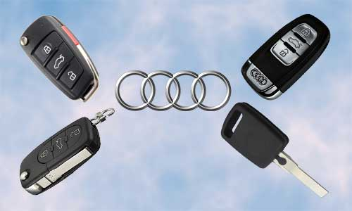 Llaves de coche Audi en grupo Apertcar
