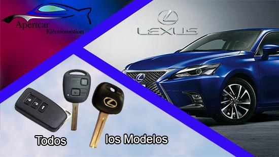 Llaves de coche Lexus en grupo Apertcar