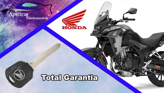 Llaves de Moto Honda en grupo Apertcar